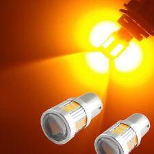 2x BAU15s 7507 1156PY 18-SMD LED Bulbs Car Turn Signal Lights Bulbs Amber Yellow