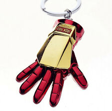 Iron Man Red Metal Hand Alloy Keychain Key Chain Ring Keyring Present Xmas Gift