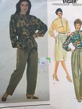 Vogue Sewing Pattern 2756 Ladies Misses Top Skirt Pants Size 8 UC Gianni Versace
