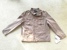 UGG Cohen Waxed Cotton Spring Jacket 1093592 Men's Large Dark Khaki NEW $295