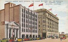 WINNIPEG MAN – Portage Avenue West, Power Building, Hudson's Bay Company's Store