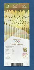 Orig.Ticket    Olympische Spiele LONDON 2012  -  SCHLUSSFEIER  !!  EXTREM SELTEN