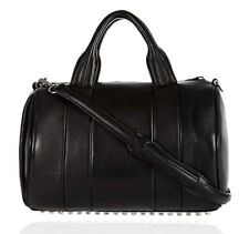 AUTH Alexander Wang Neoprene Resin Rocco Black Leather Duffel *LIMITED EDITION*