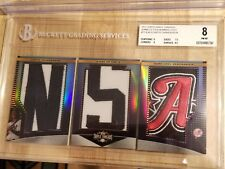 1/1 Curtis Granderson Logo Jersey Hat Patch Letter Topps Triple Threads 2011 NYY