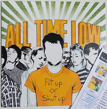 ALL TIME LOW LP Put Up Or Shut Up DEBUT EP. Vinyl New + PROMO Info Sheet SEALED