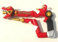 2003 Bandai Power Rangers Weapons Dino ~ RED TYRANNO STAFF / BLASTER with Sights