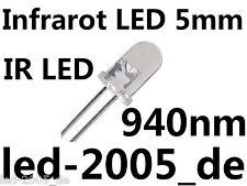 10 x IR LED 5mm, 940nm, 1.5v, 20ma, Diodo infarot TONDO 5mm, IR Diodo 5mm 940nm,