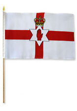 "12x18 12""x18"" Northern Ireland Stick Flag wood staff"