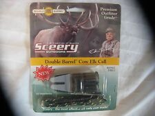 NEW SCEERY OUTDOORS DOUBLE BARREL COW ELK CALL #00862 DBE-2 BOW & RIFLE HUNTING