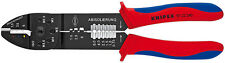 Knipex 9722240 Crimping Pliers Black Lacquered W/Multi-Component Grips 9 1/4 In