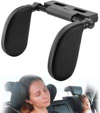 Car seat headrest pillow with adjustable pillow width (140 mm - 280 mm)