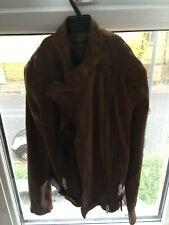 Authentic Ralph Lauren Women leather jacket size 6 -Walnut. Free postage
