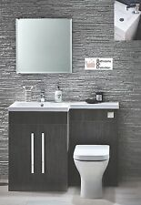 1100mm L Shaped Avola Bathroom Combi Unit With Basin & Toilet LEFT HAND