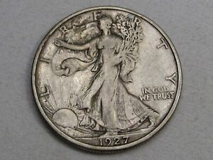 VF/XF 1927-s Walking LIBERTY Half Dollar.  #10