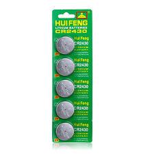 5Pcs Cr2430 2430 Dl2430 Ecr1620 Br2430 Alkaline Button Cell Coin Watch Batteries