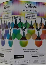 Christmas Disney Magic Holiday 24 Rainbow Wave Led Mickey Mouse String Lights