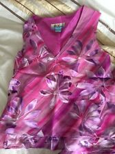 ladies monsoon Dress Style Outfit Pink Lilac Silk Floral SUMMER HolidaySIZE10vgc