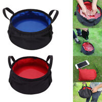 EG_ 8.5L OUTDOOR SURVIVAL FOLDING WASHBASIN POT BAG CAMPING BASIN EQUIPMENT FABU