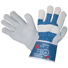 12 Paar Rostock Arbeitshandschuhe Rindkern Spaltleder Leder Handschuhe Größe 11