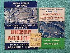 1962 CHALLENGE CUP FINAL PROGRAMME, SONGSHEET, TICKET - HUDDERSFIELD v WAKEFIELD