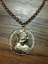 Halloween Accessory Royal Pharaoh, King, Rapper Coin Medallion Pendant Necklace