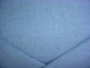 7-7/8Y KRAVET 33008 LAGOON BLUE TEXTURED LINEN DRAPERY UPHOLSTERY FABRIC