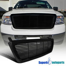 For 2004-2008 Ford F150 1PC Black Billet Front Grille Hood Grill