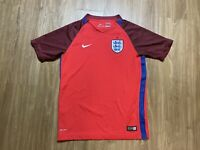 Nike England Soccer Jersey Size Large 12-13 Years Red
