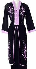 Vêtement asiatique Ao dai Vietnam Chinois Japon  soie Noir  Mauve 36  46  48