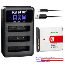 Kastar Battery Triple Charger for Sony NP-BG1 FG1 Sony Cyber-shot DSC-H50 Camera