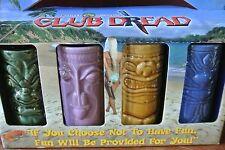 Rare Club Dread broken lizard Tiki Mug Set Movie Promo Unopened