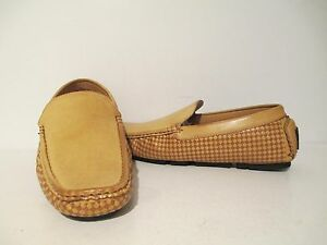 AC Casual Mens 6652 Slip On Loafer Driving Moccasin Shoes Camel Sizes 6.5 - 10.5
