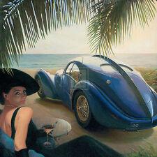 Automovilimo Modernista en 2 piezas Atlantic Bugatti o simil - 60x60cm. - Poster
