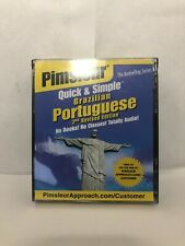 PIMSLEUR QUICK AND SIMPLE BRAZILIAN PORTUGUESE 2ND Revised EDITION CDs