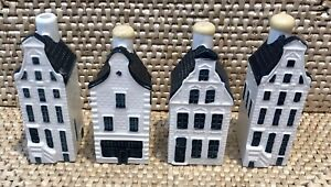KLM Blue Delft Houses...BOLS....Lot of 4...38, 51, 36 (all full)...38 (empty)