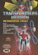 X4029 Transformers Pretenders metamorfosi finale - GIG - Pubblicità 1988 - Adv.