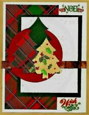Handmade Plaid Christmas Tree Card Noel A2