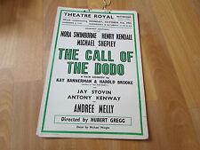 The CALL of the DODO  1955  Theatre Royal NOTTINGHAM Original Poster