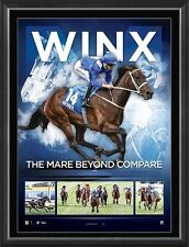 WINX SIGNED MARE BEYOND COMPARE DUAL COX PLATE CHAMPION OFFICIAL PRINT FRAMED