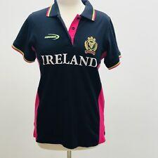 Landsdowne Womens Polo Shirt XL  Ireland Navy Sporty Top Pink Green Casual Logo