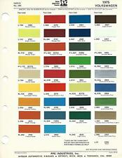 1975 VOLKSWAGEN KARMANN GHIA THING PAINT CHIPS DITZLER