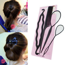 4pcs/set Hair Accessories Black Hair Twist Styling Clip Stick Maker Braid Tool