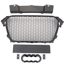 RS4 Gloss Black honeycomb mesh car grill for Audi A4 B8.5 S4 2012+ badgeless