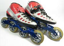 LUIGINO Carbon Boot Shoe Inline Speed Skates w/ POWERSLIDE Venom 12.8 (9/10 sz)