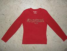 Maglia T-shirt in Cotone Strech con strass PEPE JEANS LONDON Tg. 10 anni