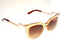 OCCHIALI da SOLE donna BEIGE ORO lenti occhi di gatto sunglasses gafas E50