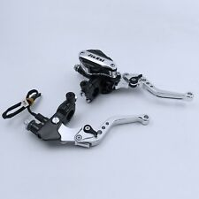 7/8'' Universal Motorcycle Clutch Brake Levers Master Cylinder Reservoir Set New