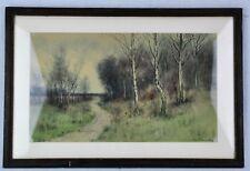"""George Howell Gay (1858 - 1931) """"Path in the Woods"""" watercolor  (BI#MK/180201)"""