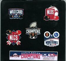 2014 World Series Champions Pin Set San Francisco Giants champs SF KC 5 Pins psg