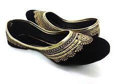 Indian Handmade Embroider Women Ethnic Shoes Traditional Flip Flops Mojari US-8